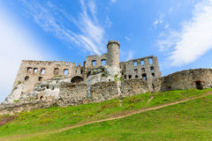 Beautiful castle in Ogrodzieniec near Krakow in spring, Poland Royalty Free Stock Photo