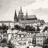 Beautiful castle in Prague, Czech republic, colorless Stock Images