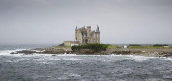 Beautiful castle in the sea Royalty Free Stock Photography