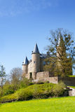 Beautiful Castle of Veves with grass and trees Royalty Free Stock Images