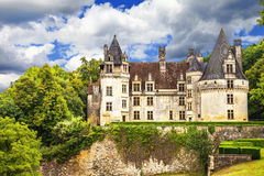 Beautiful castles of France. Puyguilhem, Dordogne stock photo