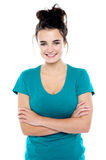 Beautiful casual girl posing confidently Royalty Free Stock Photo