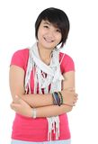 Beautiful casual girl smiling Royalty Free Stock Photography
