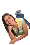 Beautiful casual latin american girl Royalty Free Stock Image