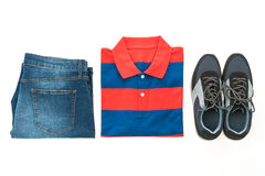 Beautiful casual men fashion set Royalty Free Stock Images
