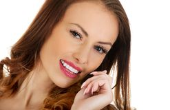 Beautiful casual smiling woman. Royalty Free Stock Photo