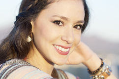 Beautiful casual smiling young woman Royalty Free Stock Photography