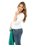 Beautiful casual woman Stock Image