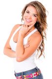Beautiful casual woman Royalty Free Stock Photography