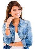 Beautiful casual woman Stock Photos