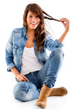 Beautiful casual woman Stock Photography