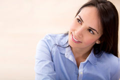 Beautiful casual woman Royalty Free Stock Images