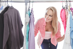 Beautiful casual woman shopping clothes Royalty Free Stock Photo