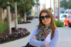 Beautiful casual woman smiling Stock Photography