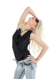 Beautiful casual young blond posing Royalty Free Stock Images