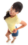 Beautiful casual young woman stock photography