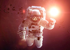 Beautiful cat in outer space. Elements of this Royalty Free Stock Photo