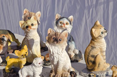 Beautiful cat souvenir sculpture in fair Royalty Free Stock Photos