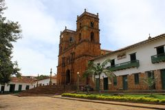 BEAUTIFUL CATHEDARAL IN BARICHARA, COLOMBIA royalty free stock photography