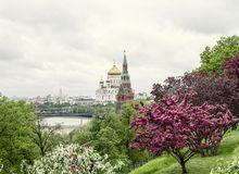 Beautiful Cathedral of Christ the Savior Stock Images