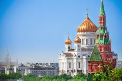 Beautiful Cathedral of Christ the Savior view Stock Images