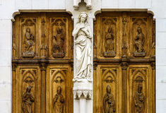 Beautiful cathedral church in Nancy, France Stock Photography