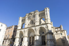 Beautiful Cathedral of the City of Cuenca in Spain Stock Photos