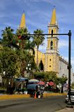 Beautiful cathedral downtown Mazatlan Royalty Free Stock Photography