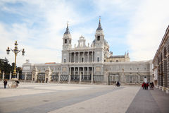 Beautiful Cathedral of Nuestra Senora de la Almudena Stock Photography