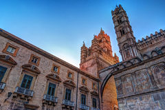 The beautiful cathedral of Palermo, Sicily Stock Images