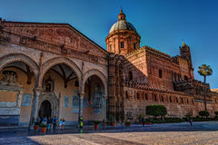 The beautiful cathedral of Palermo, Sicily Stock Photos