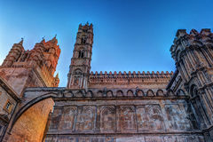 The beautiful cathedral of Palermo, Sicily Stock Image
