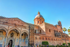 The beautiful cathedral of Palermo, Sicily Royalty Free Stock Image
