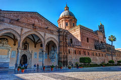 The beautiful cathedral of Palermo, Sicily Royalty Free Stock Images