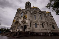 Beautiful cathedral in rainy day Royalty Free Stock Photography