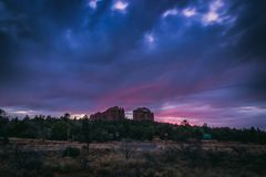 Cathedral Rock Sunset stock image
