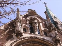 Cathedral Olga and Elizabeth Lviv city Neo-Gothic stock images