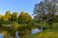 Beautiful Catherine Park. Pushkin.Russia Royalty Free Stock Photo