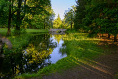 Beautiful Catherine Park. Russia. Pushkin Stock Images
