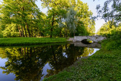 Beautiful Catherine Park. Russia. Pushkin Royalty Free Stock Photos