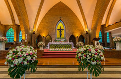 Beautiful Catholic Church interior Stock Photography