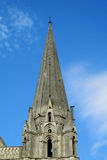 Beautiful catholic gothic style cathedral tower Stock Photo
