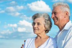 Beautiful caucasian aged couple Royalty Free Stock Photos
