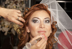 Bride hair Royalty Free Stock Photos