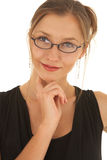 Beautiful Caucasian businesswoman Royalty Free Stock Photography