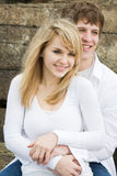 Beautiful caucasian couple Stock Photo