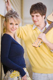 Beautiful caucasian couple in love Royalty Free Stock Photos