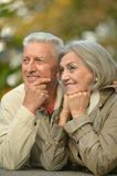 Beautiful caucasian elderly couple Royalty Free Stock Images