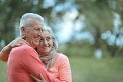 Beautiful caucasian elderly couple Royalty Free Stock Photo