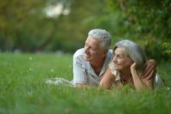 Beautiful caucasian elderly couple Stock Photos